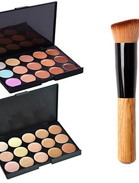 Χαμηλού Κόστους αποκρύπτων & Contour-30 χρώματα Χακί Πινέλα Μακιγιάζ 1 pcs Πρόσωπο Κλασσικό Ταξίδι / Φιλικό προς το περιβάλλον / Επαγγελματικό Καθημερινά Μακιγιάζ Καλλυντικό