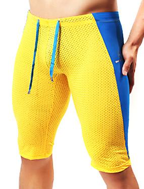 billige Sport og friluftsliv-Herre Netting Shorts til jogging sport Fargeblokk Shorts Tights Leggings Løp Trening Treningsøkt Sportsklær Pustende Mykhet Elastisk