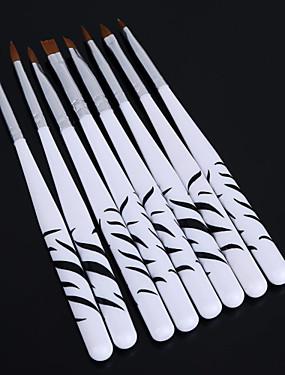 voordelige Nagelborstels-8 stuks zebra nail art puntjes manicure schilderij tekenen polish borstelpen gereedschappen