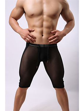 cheap Sports & Outdoors-Men's Drawstring Running Shorts Sports Mesh Shorts Pants / Trousers Bottoms Fitness Gym Workout Exercise Activewear Breathable Quick Dry Moisture Permeability High Breathability (>15,001g) Compression