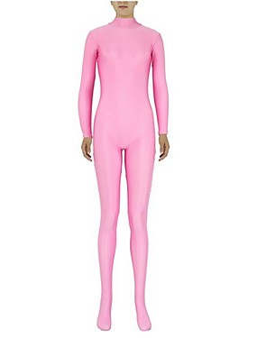 cheap Toys & Hobbies-Zentai Suits Skin Suit Ninja Adults' Cosplay Costumes Pink Solid Colored Spandex Lycra Men's Women's Halloween / High Elasticity