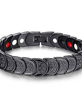 voordelige ID Armband-Heren Armbanden met ketting en sluiting Initial Roestvast staal Armband sieraden Zwart Voor Dagelijks Causaal