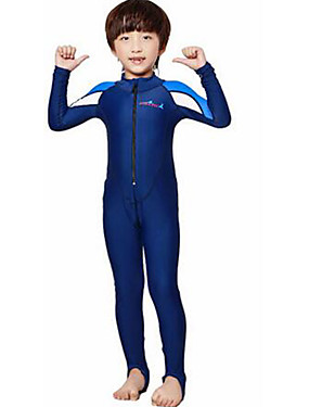 d4bc33073a ... Boys' Girls' Rash Guard Dive Skin Suit 2mm Diving Suit SPF50 UV Sun  Protection Quick Dry Full Body Front Zip - Swimming Diving Surfing  Patchwork / Kid's