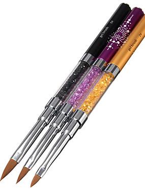 voordelige Nagelborstels-3 stuks Legering Nail Painting Tools Voor Noviteit Nagel kunst Manicure pedicure kiiltää / leuke Style
