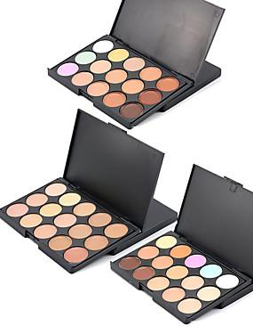 Χαμηλού Κόστους Πρόσωπο-3 χρώματα Μακιγιάζ Πούδρα Concealer / Contour Υγρό / Συνδυασμός Υγρασία / Κονσίλερ / Φυσικό Πρόσωπο # Φυσικό Μακιγιάζ Καλλυντικό