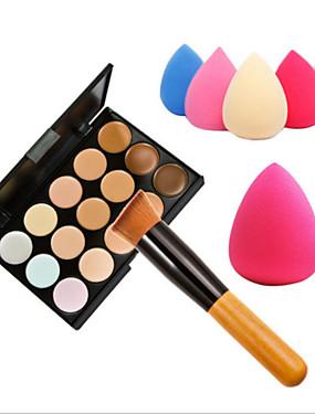 Χαμηλού Κόστους αποκρύπτων & Contour-15 Χρώματα Balm Concealer / Contour Πινέλα Μακιγιάζ Πρόσωπο Υψηλής ποιότητας Μακιγιάζ Καλλυντικό