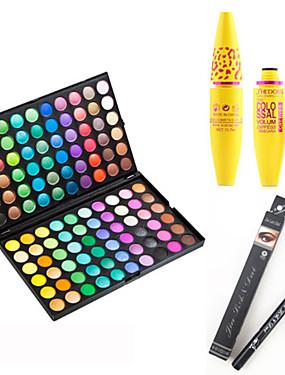 cheap Makeup For Eyes-Eyeshadow Palette Mascara Eyeliner Makeup Eye Eyelash Dry Matte Shimmer Waterproof Fast Dry Extended # 120 Colors Cosmetic Grooming Supplies
