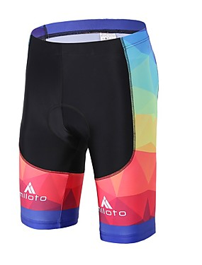 cheap Sports & Outdoors-Miloto Men's Women's Cycling Padded Shorts Bike Padded Shorts / Chamois Pants Bottoms 3D Pad Sports Spandex Lycra Black Road Bike Cycling Clothing Apparel Relaxed Fit Bike Wear / High Elasticity