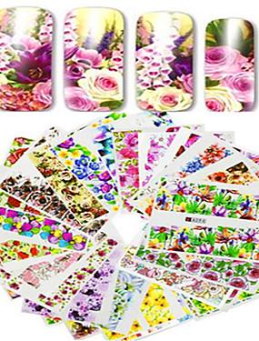 abordables Conjuntos y Juegos para Uñas-48pcs/set Etiqueta de transferencia de agua / Pegatina de uñas Flor / Calcomanías de uñas Pegatina / Nail Art Design