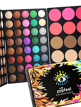 cheap Makeup For Eyes-Eyeshadow Palette Powders Blush Makeup Eye Face Waterproof Shimmer glitter gloss Coloured gloss # Cosmetic Grooming Supplies