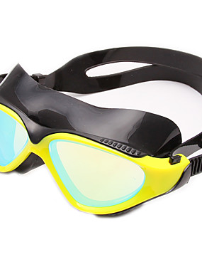 billige Sport og friluftsliv-Svømmebriller Vanntett Anti-Tåke Justerbar Størrelse Anti-UV Ripe-motstandsdyktig Bruddsikker silica Gel PC Gul Svart Blå Hvit Lysegul Lys Gull