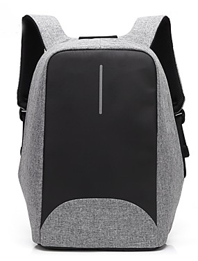 """cheap Computer & Office Clearance-Coolbell 15"""" Laptop Commuter Backpacks Nylon Business / Solid Color for Business Office for Travel Unisex with USB Charging Port / Headphones Hole"""