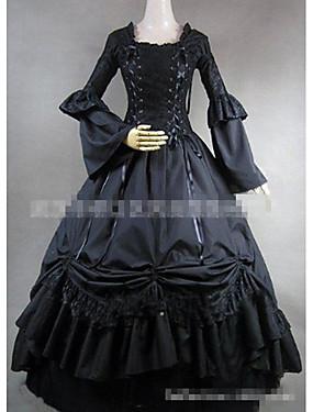 ce4323b9eec8 Γοτθική Λολίτα Κομψό Εμπνευσμένο από Βίντατζ Γυναικεία Φορέματα Cosplay  Μαύρο Μακρύ Κοστούμια