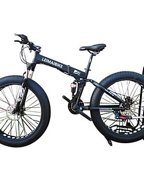povoljno Sport és outdoor-Folding bicikle / Sniježni bicikl Biciklizam 21 Brzina 26 inča / 700CC 40 mm SHIMANO 51-7 Dvostruka disk kočnica Vilica s oprugom Stražnja suspenzija Običan Aluminijska legura