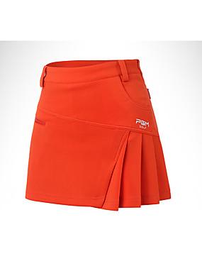ieftine Sporturi cu Rachetă-Pentru femei Golf Fuste Pantaloni Mată Bumbac Fitness, Running & Yoga Sport Informal Golf Alb Portocaliu Albastru sportiv / Strech