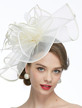 billige Bryllup & Eventer-Nett Kentucky Derby Hat / fascinators / Hatter med 1 Bryllup / Spesiell Leilighet Hodeplagg