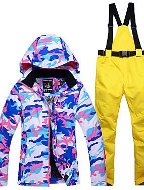 abordables Deportes y Ocio-Snowy Owl Mujer Chaqueta y pantalones de Esquí Impermeable Mantiene abrigado Resistente al Viento Esquí Deportes de Invierno Poliéster Sets de Prendas Ropa de Esquí