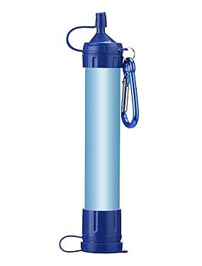 povoljno Sport és outdoor-Prijenosni filtera za vodu i Pročistači Prijenosni filter za vodu Plastika Carbon Fiber silika gel Outdoor za Camping & planinarenje Ribolov Pješačenje 1 pcs Plava