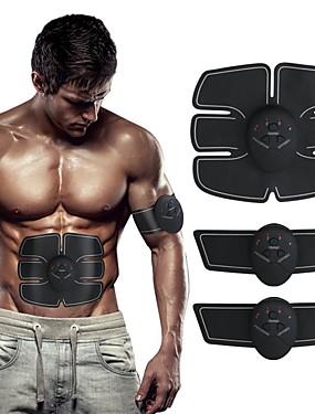 זול ספורט ושטח-ממריץ שרירי בטן חגורת גוון בטן EMS מאמן ABS חשמלי Muscle Toner Wireless ירידה במשקל אימון כושר וספורט כושר אמון ל גברים נשים רגל Abdomen Home Office