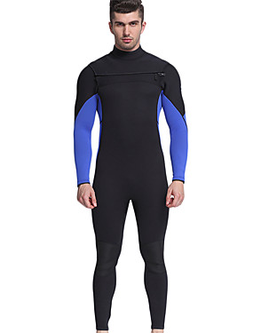 povoljno Sport és outdoor-MYLEDI Muškarci Dugo mokro odijelo 3mm Neopren Ronilačka odijela Vodootporno Ugrijati Dugih rukava Povratak Zipper - Plivanje Ronjenje Surfanje