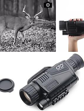 billige Sport og friluftsliv-5 X 40 mm Night Vision Monocular Infrarød Bærbar Oppladbar Multifunksjon BAK4 Jakt Klatring Militær Nattsyn