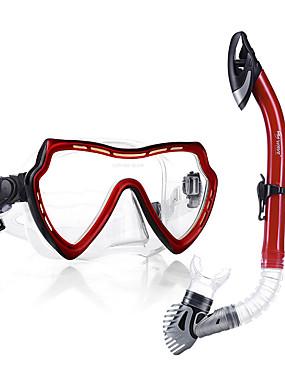 billige Sport og friluftsliv-WAVE Snorkelpakker Dykking Pakker - Dykkermaske snorkel - Anti-Tåke Eksplosjonssikker Tørrdrakt - topp Svømming Dykking Snorkling Silikon PVC (polyvinylklorid)  Til Voksen