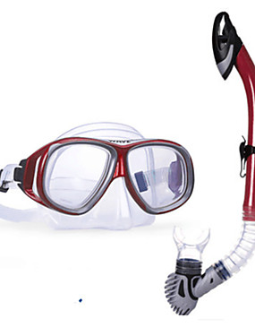 billige Sport og friluftsliv-WAVE Snorkelpakker Dykking Pakker - Dykkermaske snorkel - Anti-dugg Myk Tørrdrakt - topp Svømming Dykking Snorkling Silikon PVC (polyvinylklorid)  Til Voksen