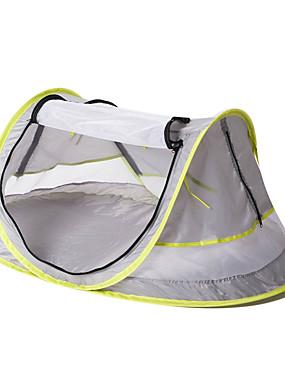 billige Sport og friluftsliv-1 person Pop opp telt Utendørs UV-bestandig UPF50+ Myggvern Med enkelt lag camping Tent <1000 mm til Strand Camping / Vandring / Grotte Udforskning Nett Stoff 108*65*50 cm