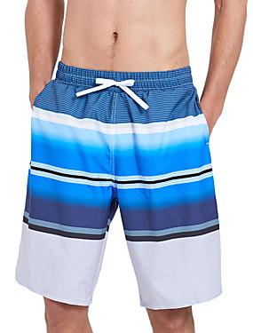 abordables Deportes y Ocio-SBART Hombre Pantalones de Natación Boxers de Natación Licra Pantalones de Surf Impermeable Secado rápido Correa - Surfing Playa Deportes acuáticos Rayas Verano / Elástico