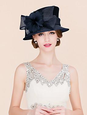 billige Bryllup & Eventer-Linfrø / Fjær / Satin Kentucky Derby Hat / fascinators / Hatter med 1 Bryllup / Spesiell Leilighet / Avslappet Hodeplagg