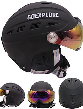 billige Sport og friluftsliv-Skihjelm Unisex Snowboarding Ski Justerbar One Piece Termisk / Varm EPS ABS CE EN 1077 ASTM