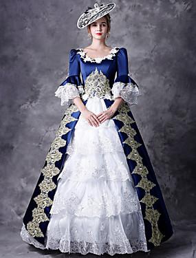 ba43705747c6 Χαμηλού Κόστους Παιχνίδια και χόμπι-Victorian Δούκισσα Rococo Barroco  Victorian 18ος αιώνας Τετράγωνη Λαιμόκοψη Στολές