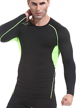 povoljno Sport és outdoor-FANNAI Muškarci Uski okrugli izrez Kompresijska košulja Sportski Geometrija Kompresivna odjeća Majice Trčanje Fitness Trening u teretani Dugih rukava Odjeća za rekreaciju Mala težina Quick dry Puha
