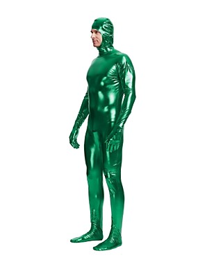 40cf8a77ea0be Zentai Suits Cosplay Costume Adults' Cosplay Costumes Sex Green / Golden /  Fuchsia Solid Colored Spandex Lycra Elastic Men's Christmas Halloween  Carnival ...