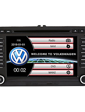 ieftine Cadouri Gratuite-520WGNR04 7 inch 2 Din Windows CE In-Dash DVD player GPS / Touch Screen / Bluethoot Încorporat pentru Volkswagen A sustine / RDS / Comenzi Volan / Ieșire Subwoofer / Jocuri / Suport SD / USB