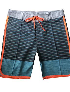 abordables Bañadores de Hombre-Hombre Blanco Pantalones de bañador Una Pieza Bañadores - A Rayas XL XXL XXXL Blanco