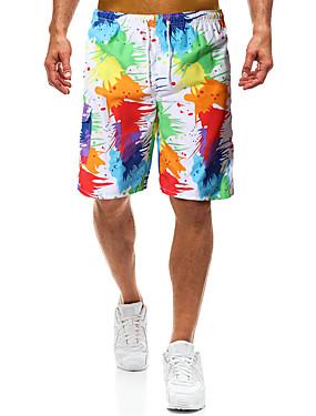 זול ספורט ושטח-בגדי ריקוד גברים מכנסי שורט בגדי ים אלסטיין תחתיות הגנה מפני השמש UV ייבוש מהיר שחייה גלישה ציור קיץ