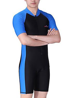 povoljno Sport és outdoor-Dive&Sail Muškarci Ronilačko odijelo kože Ronilačka odijela SPF 50 UV zaštitu od sunca Quick dry Kratkih rukava Prednji Zipper - Plivanje Ronjenje Surfanje Kolaž / Visoka elastičnost