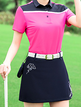povoljno Sportovi s reketom-Žene Haljine T-majica Sportska odijela Kratkih rukava Golf Trčanje Vježbati Athleisure Vanjski Pasti Proljeće Ljeto / Mikroelastično / Quick dry / Ovlaživanje / Prozračnost