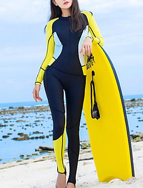 povoljno Sport és outdoor-HISEA® Žene Ronilačko odijelo kože 0.5mm Ronilačka odijela UV zaštitu od sunca Prozračnost Dugih rukava Povratak Zipper - Plivanje Ronjenje Surfanje Kolaž Proljeće Ljeto Jesen