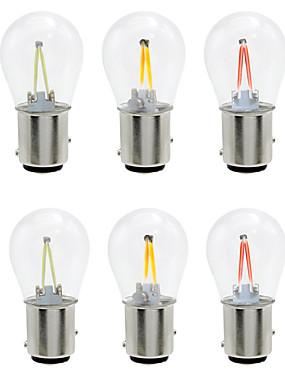 abordables Luces de marcha atrás-6pcs 1156/1157 bombillas de luz de coche 2 w cob 160 lm 2 led luces de intermitentes / luces de freno / marcha atrás (de respaldo) para universal todos los años