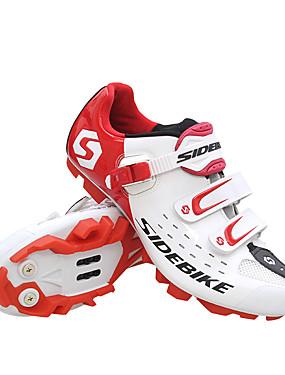 billige Sport og friluftsliv-SIDEBIKE Mountain Bike-sko Vanntett Pustende Anti-Skli Sykling Svart Rød Grønn Herre Sykkelsko / Demping / Ventilasjon / Demping / Ventilasjon