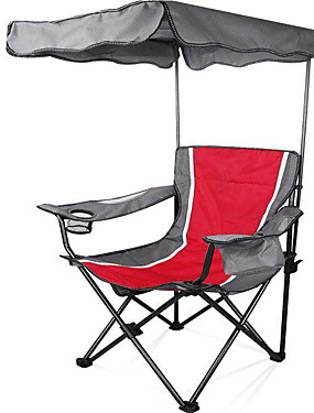cheap Sports & Outdoors-Camping Chair with Cup Holder with Side Pocket Portable Anti-Slip Foldable Comfortable Steel Tube Oxford for 1 person Camping Camping / Hiking / Caving Traveling Picnic Autumn / Fall Spring Red