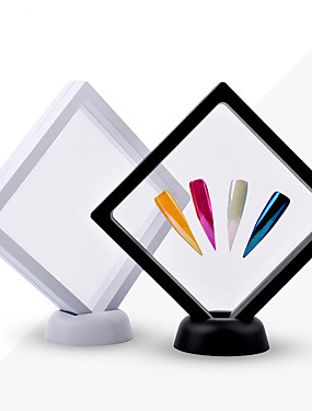 voordelige Ander Gereedschap-1 stks wit / zwart nail tips display standhouder acryl met huisdier membraan nagels verwaardigt tonen board manicure nail art gereedschap