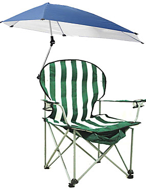 cheap Sports & Outdoors-Camping Chair with Cup Holder with Side Pocket Portable Anti-Slip Foldable Comfortable Steel Tube Oxford for 1 person Camping Camping / Hiking / Caving Traveling Picnic Autumn / Fall Spring Green
