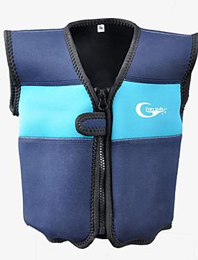 billige Sport og friluftsliv-YON SUB Redningsvest Beskyttende Polyester Svømming Dykking Snorkling Topper til Barn