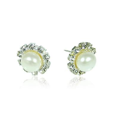 女性用 ホワイト 真珠 イヤリング 純銀製 イヤリング ファッション ジュエリー 用途 日常