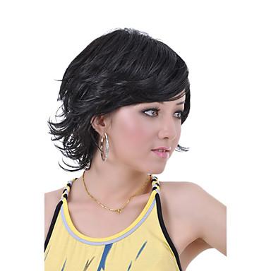 negro peluca Pelucas para mujeres Rizado Las pelucas del traje Pelucas de Cosplay