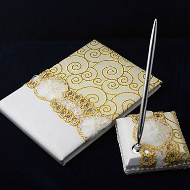 Anniversary Wedding Guest Book And Pen Set