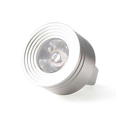 1W - 12V LED Light Bulb in Silver White Aluminum Finish